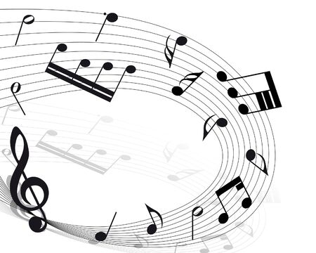 musical notes staff background for design use Stock Photo - 7720865