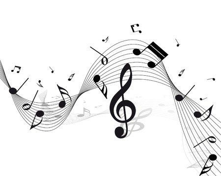 musical notes:   musical notes staff background for design use