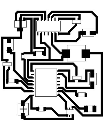 electronic components: Electric scheme for design use.   illustration.