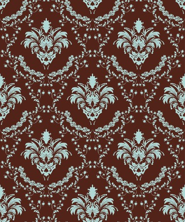 Damask seamless   background.  For easy making seamless pattern just drag all group into swatches bar, and use it for filling any contours. Stock Vector - 7763761