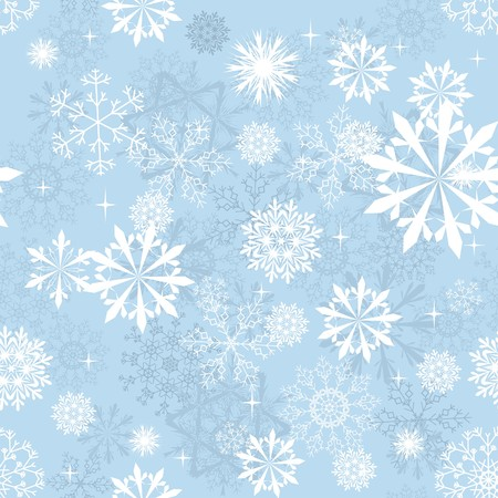 Seamless snowflakes background for winter and christmas theme Vetores