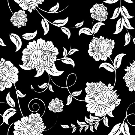 Seamless floral pattern. For easy making seamless pattern just drag all group into swatches bar, and use it for filling any contours. Stock Vector - 7763673