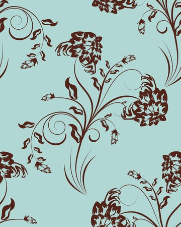 Seamless  floral pattern. For easy making seamless pattern just drag all group into swatches bar, and use it for filling any contours. Stock Vector - 7763535