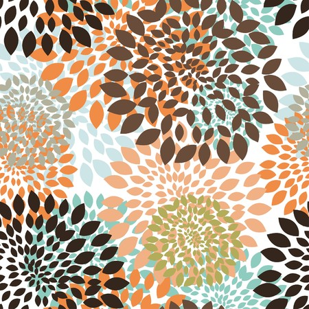 Seamless  floral pattern. For easy making seamless pattern just drag all group into swatches bar, and use it for filling any contours. Stock Vector - 7800355