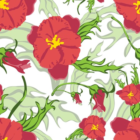 Seamless   floral pattern. For easy making seamless pattern just drag all group into swatches bar, and use it for filling any contours. Vector