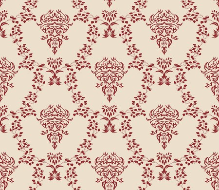 Damask seamless   pattern.  For easy making seamless pattern just drag all group into swatches bar, and use it for filling any contours. Stock Vector - 7822690
