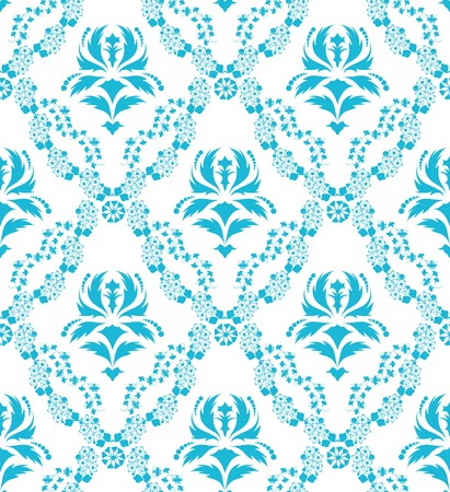Damask seamless  pattern.  For easy making seamless pattern just drag all group into swatches bar, and use it for filling any contours. Stock Vector - 7822699