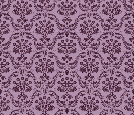 swatches: Damask seamless  pattern.  For easy making seamless pattern just drag all group into swatches bar, and use it for filling any contours. Illustration