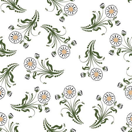 Seamless   floral pattern. For easy making seamless pattern just drag all group into swatches bar, and use it for filling any contours. Stock Vector - 7822691