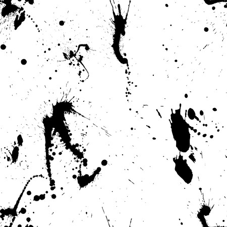 inkblots: Abstract grunge   seamless pattern.  For easy making seamless pattern just drag all group into swatches bar, and use it for filling any contours. Illustration