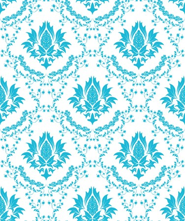 Damask seamless  pattern.  For easy making seamless pattern just drag all group into swatches bar, and use it for filling any contours. Stock Vector - 7949237
