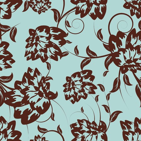 Seamless   floral pattern. For easy making seamless pattern just drag all group into swatches bar, and use it for filling any contours. Stock Vector - 8065389