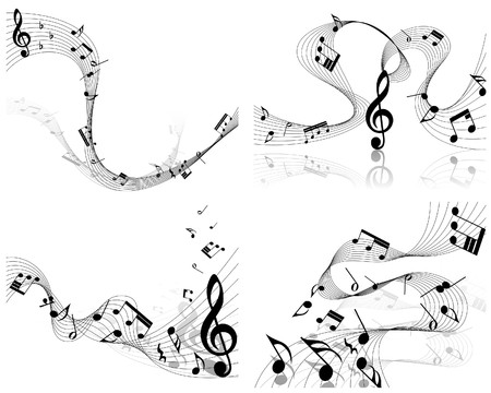 minims:  musical notes staff background for design use