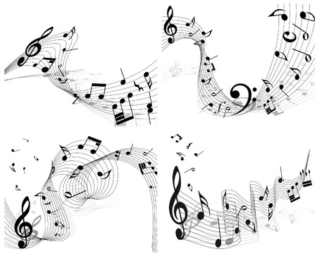 musical notes staff background for design use Stock Vector - 8065388