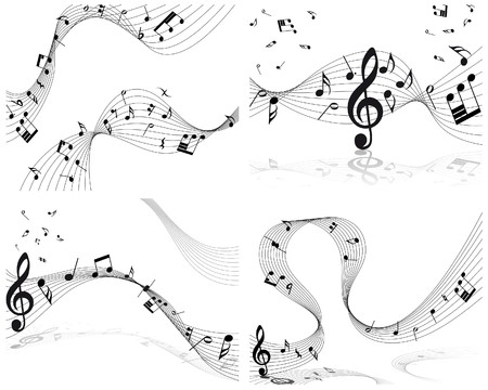 musical notes staff background for design use Stock Vector - 8065383
