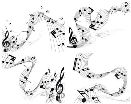 musical notes staff background for design use Stock Vector - 8065387