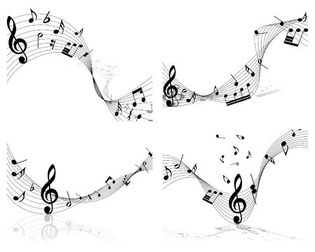 note musicali:   musical notes staff background for design use