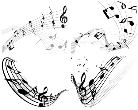 musical notes staff background for design use Stock Vector - 8065381