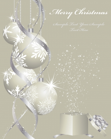 Beautiful  Christmas (New Year) background for design use Stock Vector - 8065417
