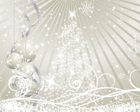 Beautiful  Christmas (New Year) background for design use Stock Vector - 8065414