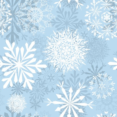 blizzards: Seamless snowflakes background for winter and christmas theme