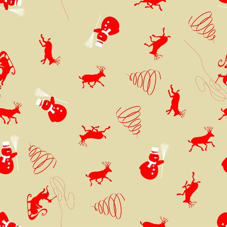 Beautiful   Christmas (New Year) seamless background for design use Stock Vector - 8087634