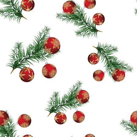 Beautiful  Christmas (New Year) seamless background for design use Vector