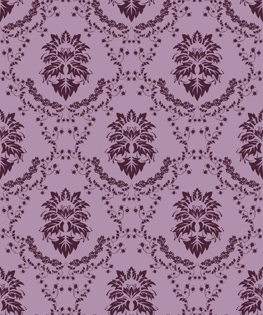 Damask seamless   pattern.  For easy making seamless pattern just drag all group into swatches bar, and use it for filling any contours. Vector