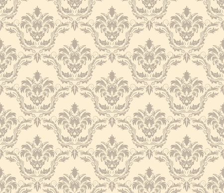 filling: Damask seamless   pattern.  For easy making seamless pattern just drag all group into swatches bar, and use it for filling any contours. Illustration