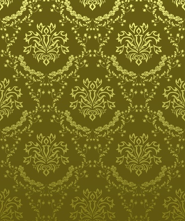 Damask seamless pattern.  For easy making seamless pattern just drag all group into swatches bar, and use it for filling any contours. Stock Vector - 8286020