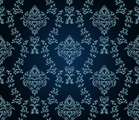 Damask seamless   pattern.  For easy making seamless pattern just drag all group into swatches bar, and use it for filling any contours. Stock Vector - 8285984