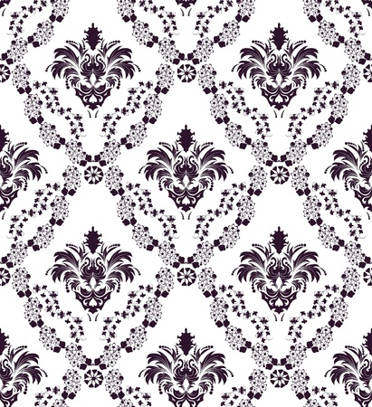 Damask seamless  pattern.  For easy making seamless pattern just drag all group into swatches bar, and use it for filling any contours. Stock Vector - 8285989