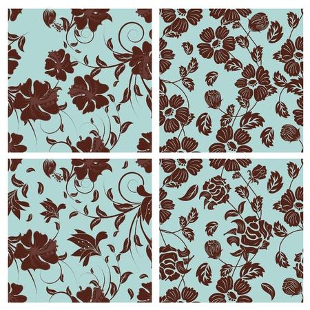 remplissage: Motif floral transparente. Facile pattern transparente prise juste faites glisser groupe tous les dans la barre de nuanciers et utilisez-le pour toute les contours de remplissage.