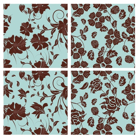 Seamless floral pattern. For easy making seamless pattern just drag all group into swatches bar, and use it for filling any contours. Stock Vector - 8285985