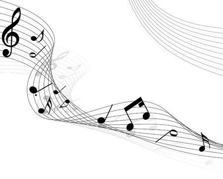 musical notes staff background for design use Stock Vector - 8285975