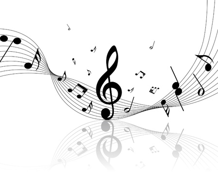 minim: musical notes staff background for design use