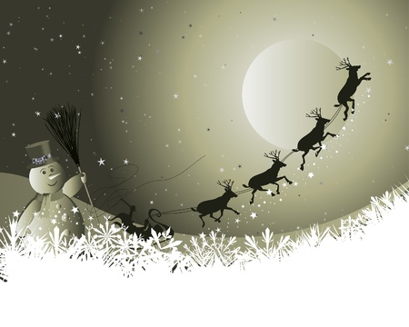 Beautiful vector Christmas (New Year) background for design use Stock Vector - 8447410