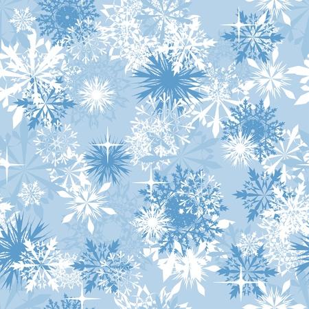 blizzard: Nahtlose Schneeflocken Hintergrund f�r Winter und Thema Weihnachten
