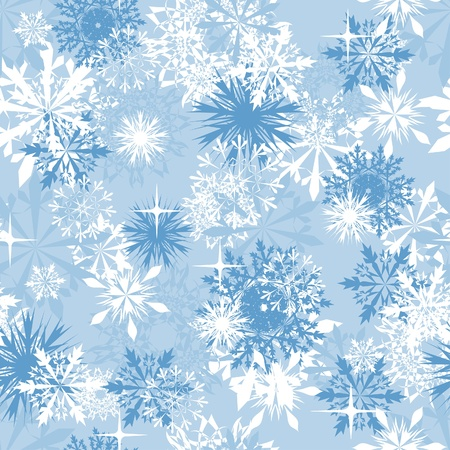 Seamless snowflakes background for winter and christmas theme Stock Vector - 8447418