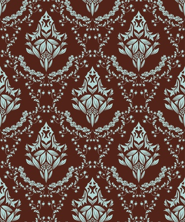 Damask seamless  pattern.  For easy making seamless pattern just drag all group into swatches bar, and use it for filling any contours. Stock Vector - 8464287