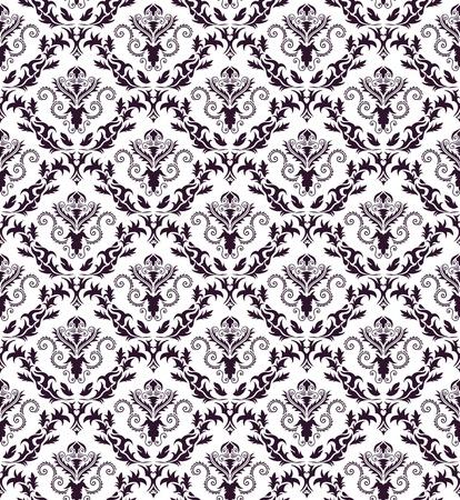 damast: Damaris seamless Pattern.  Ziehen Sie f�r easy making seamless Pattern nur alle Gruppe in Farbfelder Bar, und verwenden Sie es zum ausf�llen alle Konturen.