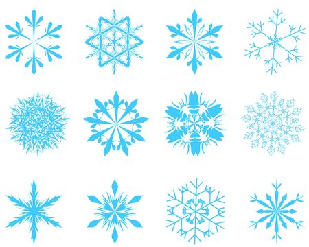 Collection of  snowflakes in different shape Stock Vector - 8464264