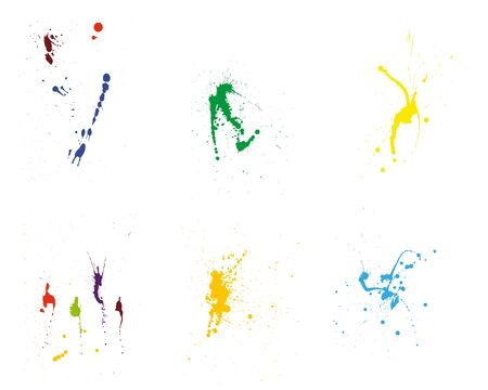 inkblots: Color grunge  pattern set for design use.