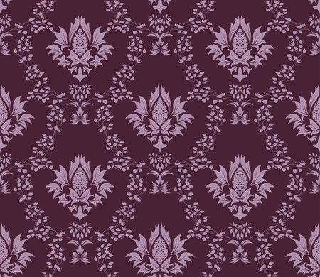 Damask seamless   pattern.  For easy making seamless pattern just drag all group into swatches bar, and use it for filling any contours. Stock Vector - 8575872