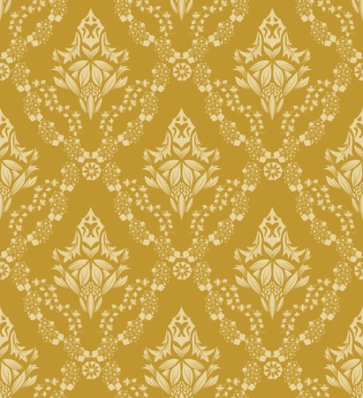 Damask seamless  pattern.  For easy making seamless pattern just drag all group into swatches bar, and use it for filling any contours. Stock Vector - 8575045