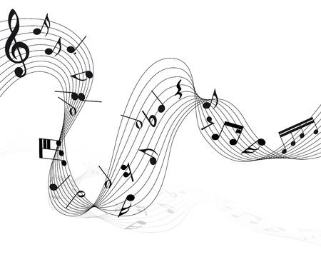 minim: Vector musical notes staff background for design use Illustration