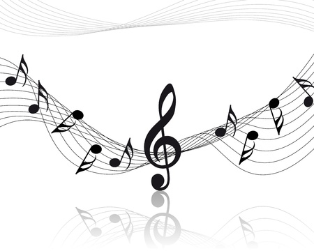 musical notes staff background for design use Stock Vector - 8575858