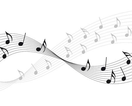 pentagrama musical:  notas musicales personal de fondo para uso de dise�o