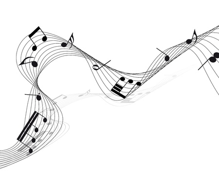 scrool:   musical notes staff background for design use