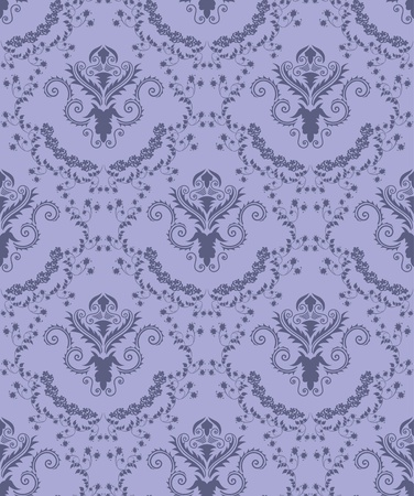 Damask seamless   pattern.  For easy making seamless pattern just drag all group into swatches bar, and use it for filling any contours. Stock Vector - 8656483